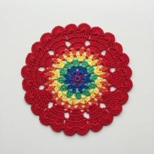 Kalp Mandala Tığ Desen Yapılışı 15