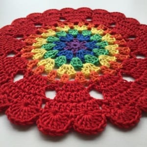 Kalp Mandala Tığ Desen Yapılışı 2