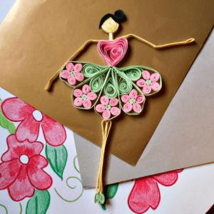 Kağıt Sanatı ile Balerin
