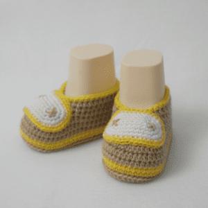 Tığ İşi Bebek Patiği Yapılışı 13