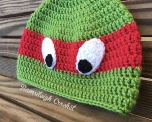 Tığ İşi Ninja Kaplumbağa Şapka Yapılışı