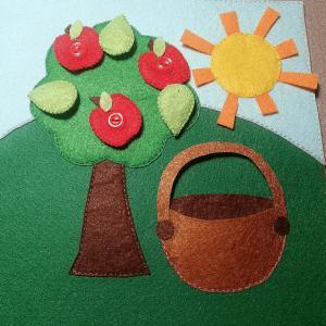Yaz Temalı Keçe Çalışması 12
