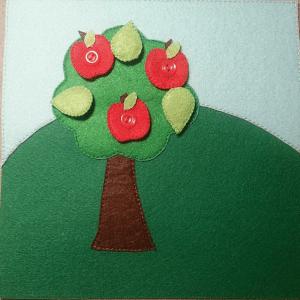 Yaz Temalı Keçe Çalışması 14
