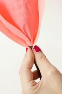 DIY, Krep Kağıt İle Gül Yapılışı 10
