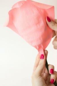 DIY, Krep Kağıt İle Gül Yapılışı 11