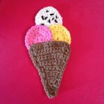 Örgü Aplike Dondurma Yapılışı 3