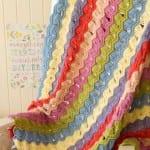 Tığ İşi Dalgalı Bebek Battaniyesi Modeli 15