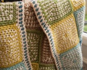 İki Renkli Keten Modeli Bebek Battaniyesi Yapılışı 11