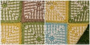 İki Renkli Keten Modeli Bebek Battaniyesi Yapılışı 13