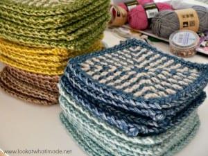 İki Renkli Keten Modeli Bebek Battaniyesi Yapılışı 19