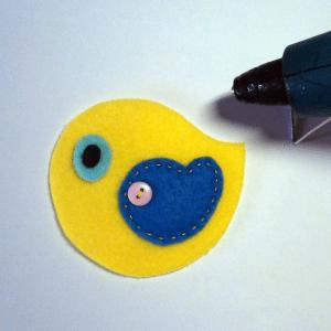 Keçe Kuş Duvar Süsü Yapılışı 14