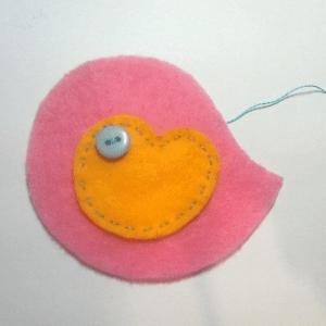 Keçe Kuş Duvar Süsü Yapılışı 17