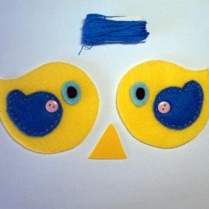 Keçe Kuş Duvar Süsü Yapılışı 18