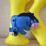 Keçe Winnie the Pooh Eeyore Yapılışı 5