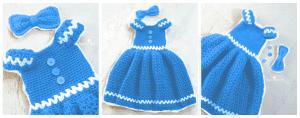 Kız Çocuk Örgü Elbise Modeli 1