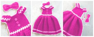 Kız Çocuk Örgü Elbise Modeli 2