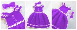 Kız Çocuk Örgü Elbise Modeli 4