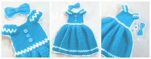 Kız Çocuk Örgü Elbise Modeli 5