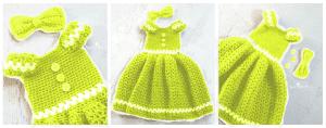Kız Çocuk Örgü Elbise Modeli 6