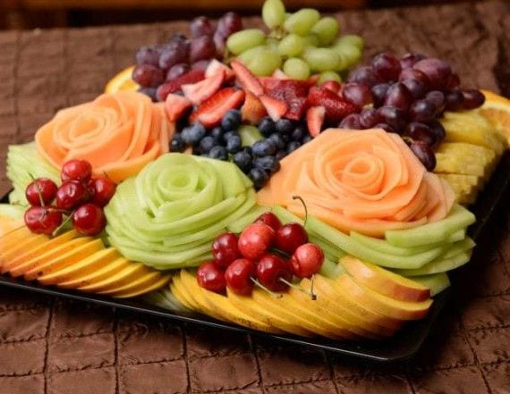 Tropical Fruit Platter For A Beach Wedding: Meyve Tabağı Resimleri