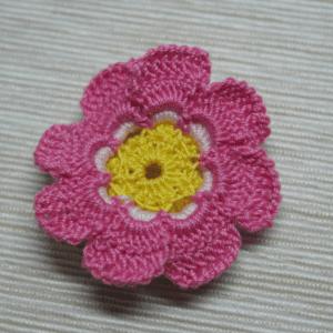 Örgü Çiçek Toka Yapılışı 9