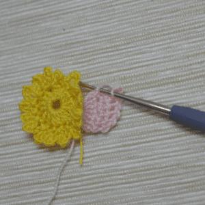 Örgü Çiçek Toka Yapılışı 23