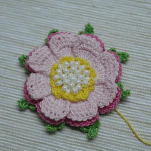 Örgü Çiçek Toka Yapılışı 27