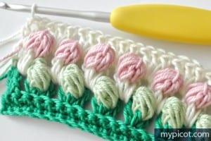 Örgü Renkli Bebek Battaniyesi Yapılışı 10