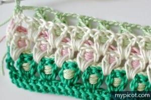 Örgü Renkli Bebek Battaniyesi Yapılışı 11