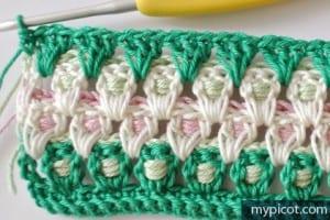Örgü Renkli Bebek Battaniyesi Yapılışı 12