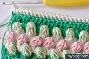 Örgü Renkli Bebek Battaniyesi Yapılışı 13