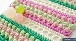 Örgü Renkli Bebek Battaniyesi Yapılışı 16