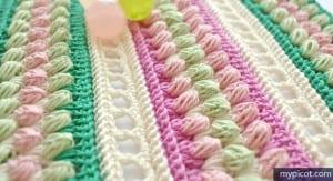 Örgü Renkli Bebek Battaniyesi Yapılışı 17