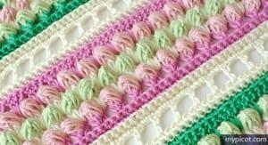 Örgü Renkli Bebek Battaniyesi Yapılışı 18
