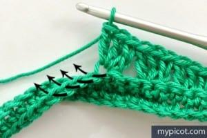Örgü Renkli Bebek Battaniyesi Yapılışı 1
