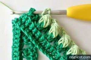 Örgü Renkli Bebek Battaniyesi Yapılışı 2