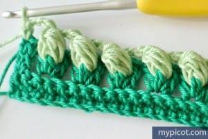 Örgü Renkli Bebek Battaniyesi Yapılışı 6