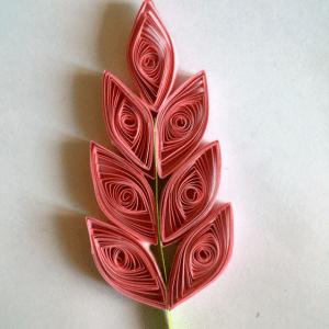 Quilling Sanatı Yaprak Modeli Yapılışı 2