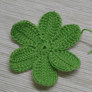 Tığ İşi Lotus Çiçek Yapılışı 9