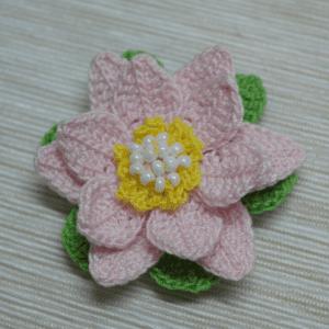 Tığ İşi Lotus Çiçek Yapılışı 15