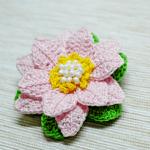 Tığ İşi Lotus Çiçek Yapılışı 5