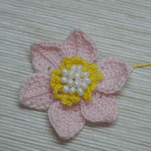 Tığ İşi Lotus Çiçek Yapılışı 6