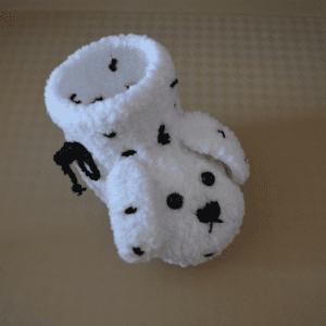 Yumuşak Tığ İşi Bebek Patiği Yapılışı 14