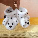 Yumuşak Tığ İşi Bebek Patiği Yapılışı 26