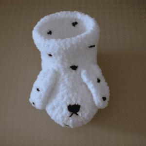 Yumuşak Tığ İşi Bebek Patiği Yapılışı 8