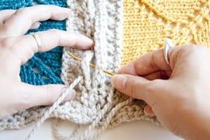 Beş Şiş Örgü Bebek Battaniyesi Yapılışı 9