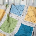 Beş Şiş Örgü  Bebek Battaniyesi Yapılışı 8