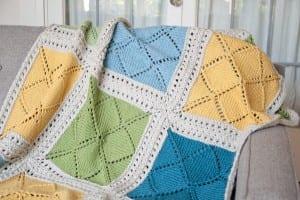 Beş Şiş Örgü Bebek Battaniyesi Yapılışı
