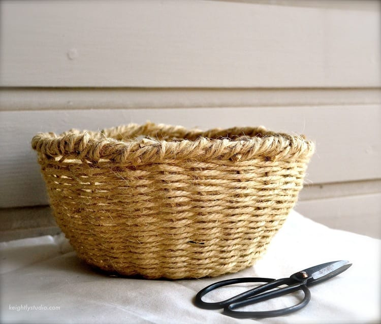 How To Weave A Simple Easter Basket : Diy j?t pi le sepet yap l mimuu