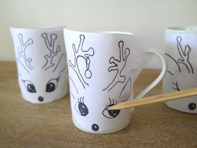 Kupa Porselen Boyama Yapılışı Mimuucom